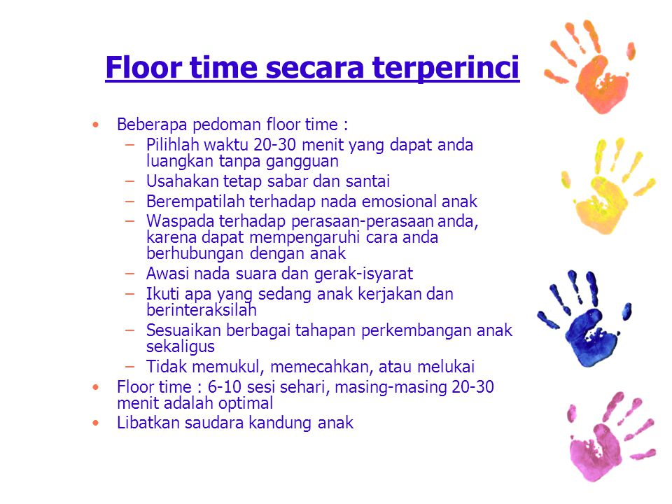Floor time secara terperinci