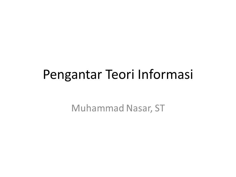 Pengantar Teori Informasi