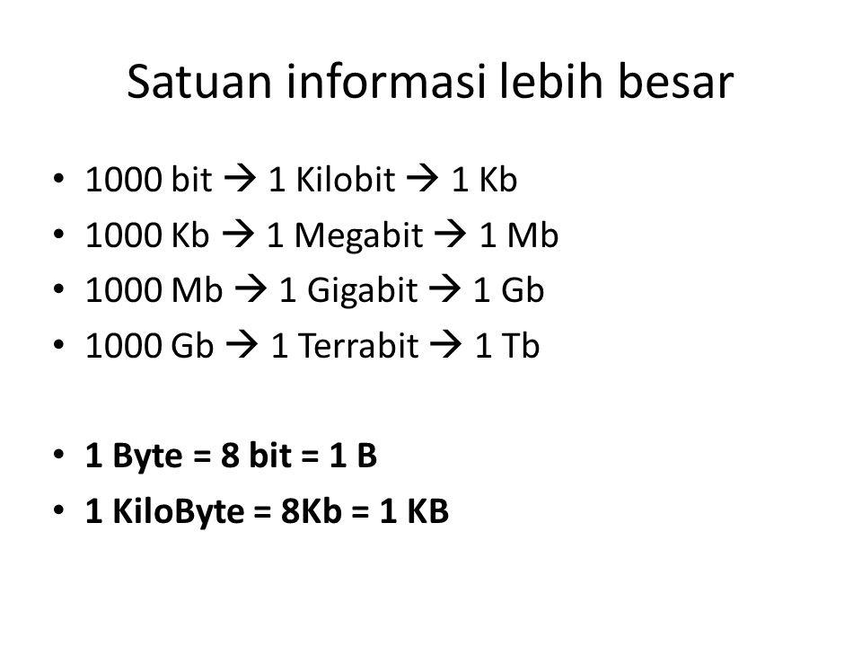 Satuan informasi lebih besar