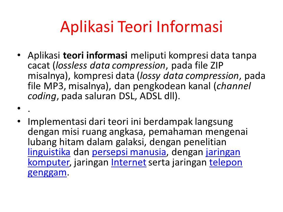 Aplikasi Teori Informasi
