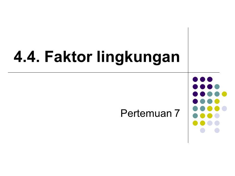 4.4. Faktor lingkungan Pertemuan 7