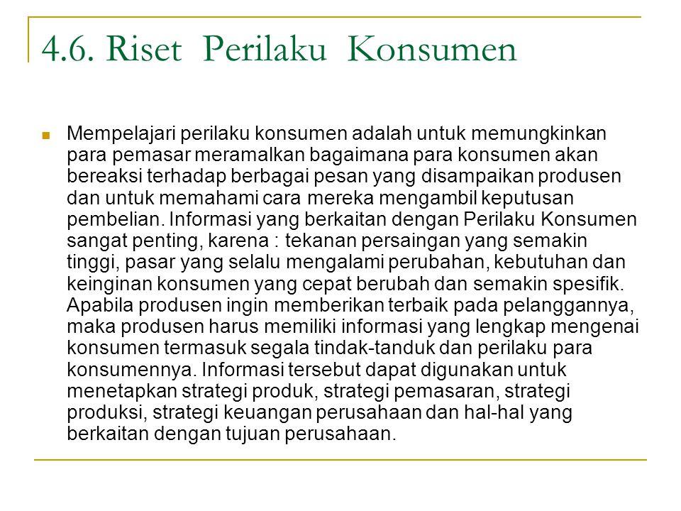 4.6. Riset Perilaku Konsumen