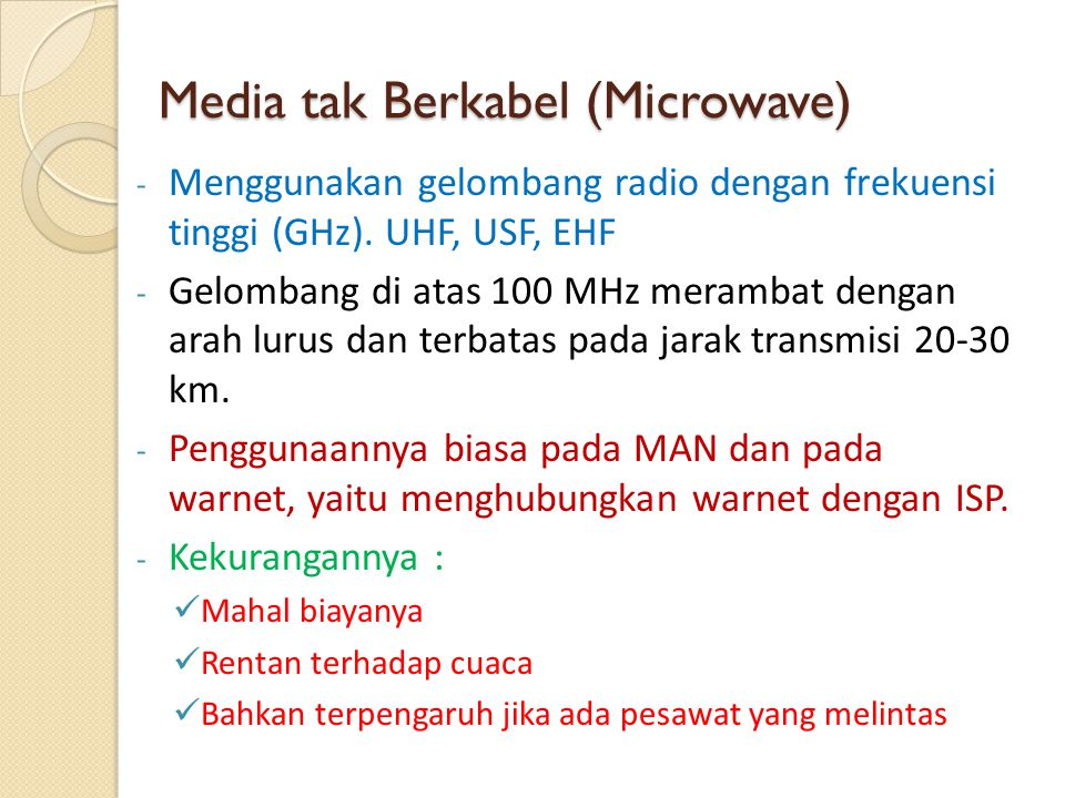 Media tak Berkabel (Microwave)