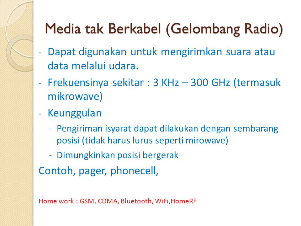 Media tak Berkabel (Gelombang Radio)