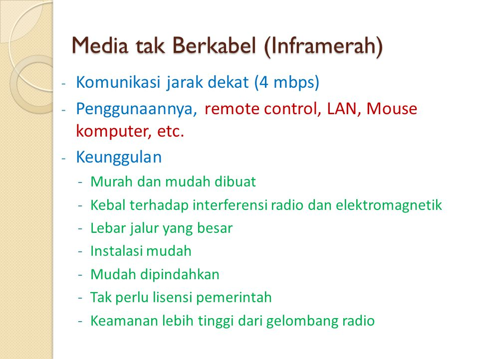 Media tak Berkabel (Inframerah)