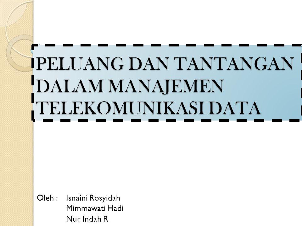 PELUANG DAN TANTANGAN DALAM MANAJEMEN TELEKOMUNIKASI DATA