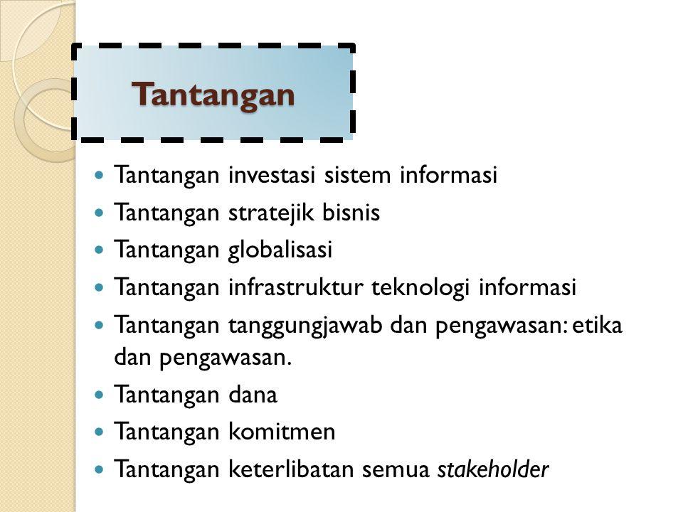 Tantangan Tantangan investasi sistem informasi