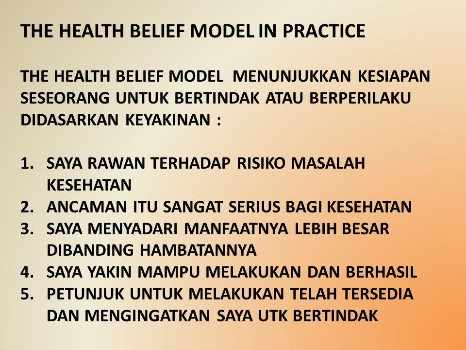 THE HEALTH BELIEF MODEL IN PRACTICE
