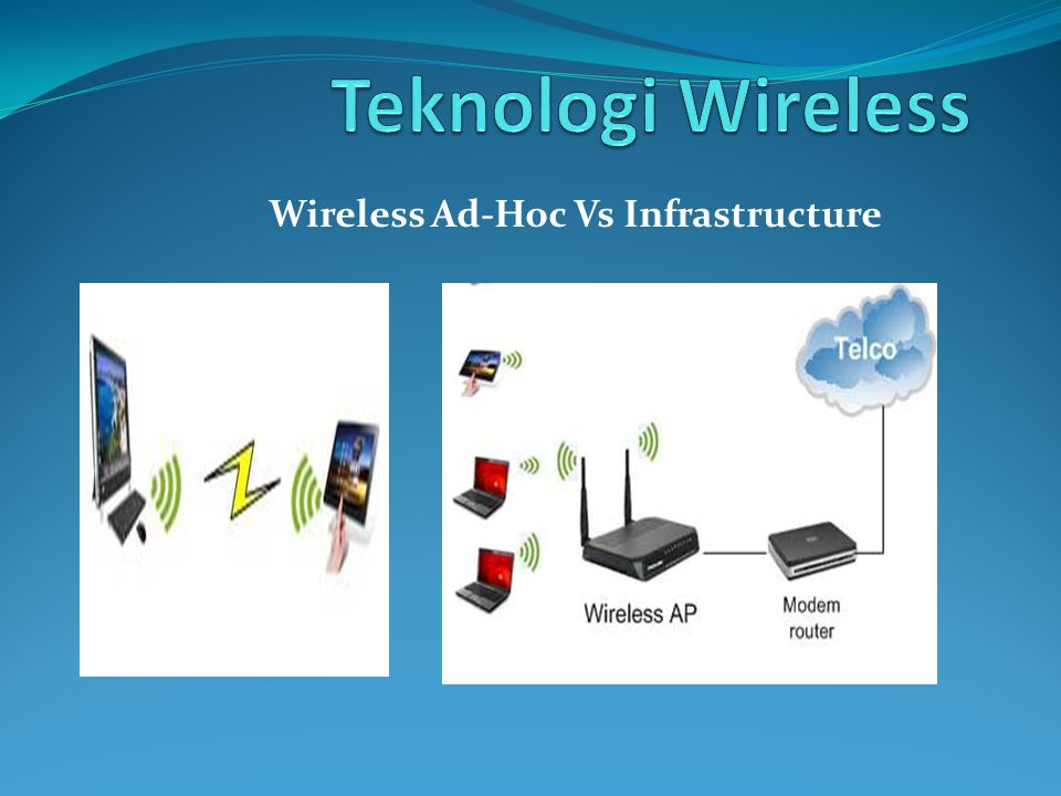 Wireless Ad-Hoc Vs Infrastructure