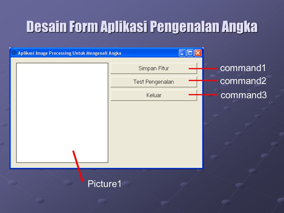 Desain Form Aplikasi Pengenalan Angka