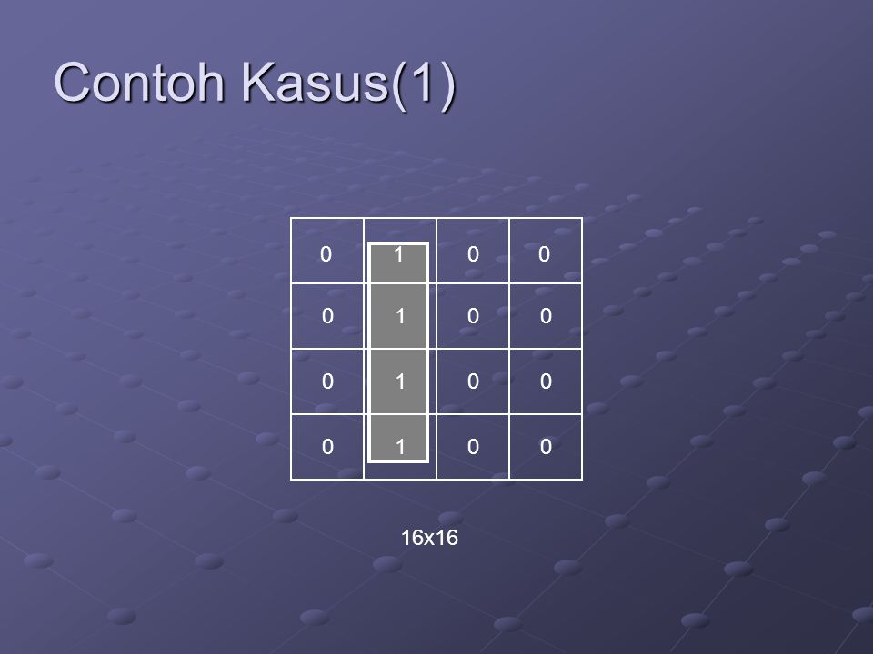 Contoh Kasus(1) 1 1 1 1 16x16