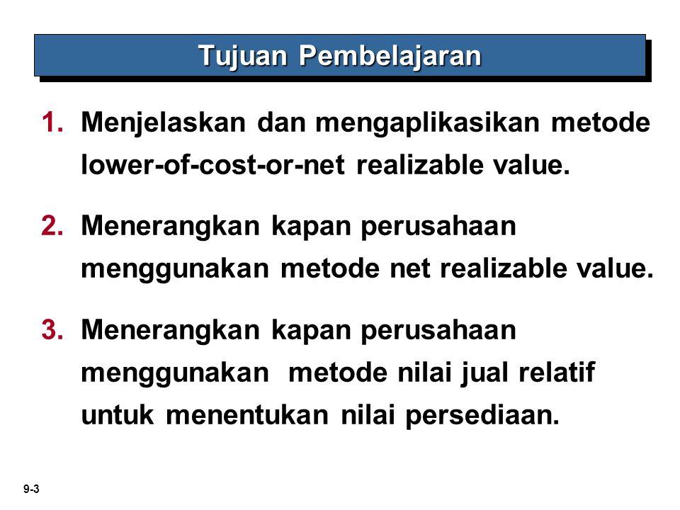 Tujuan Pembelajaran Menjelaskan dan mengaplikasikan metode lower-of-cost-or-net realizable value.