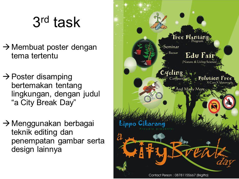 3rd task Membuat poster dengan tema tertentu