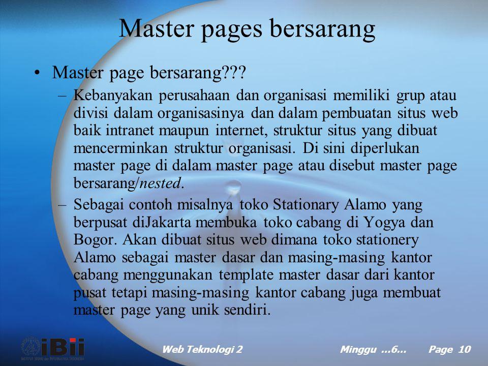 Master pages bersarang