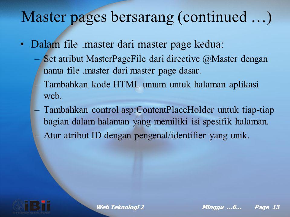 Master pages bersarang (continued …)
