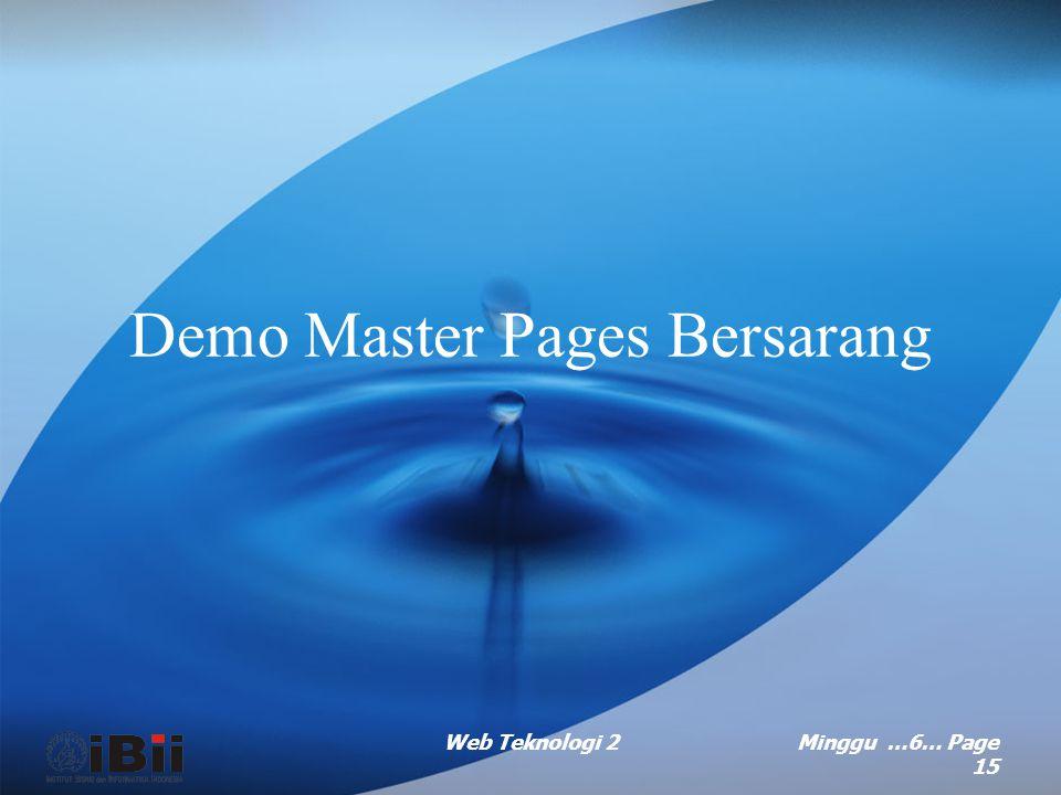 Demo Master Pages Bersarang