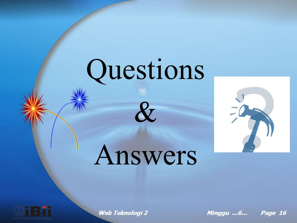 Questions & Answers Web Teknologi 2