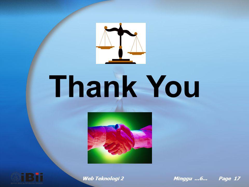 Thank You Web Teknologi 2