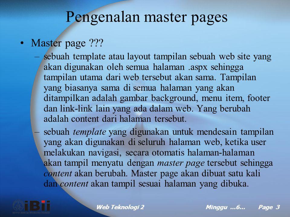 Pengenalan master pages