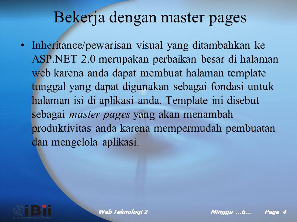 Bekerja dengan master pages
