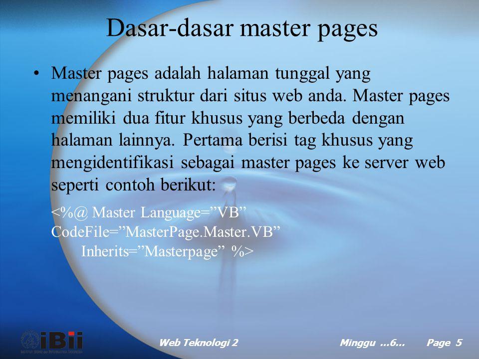 Dasar-dasar master pages