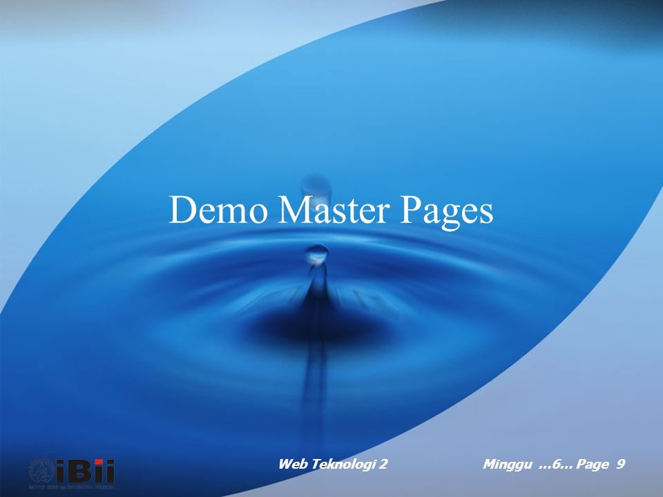 Demo Master Pages Web Teknologi 2