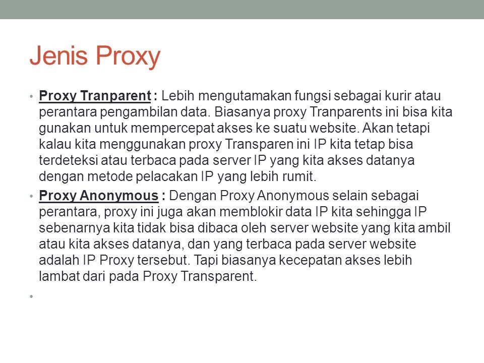 Jenis Proxy
