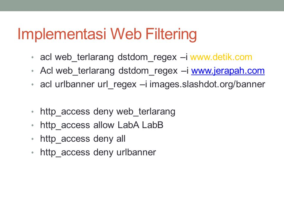 Implementasi Web Filtering