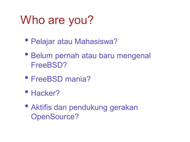 Who are you Pelajar atau Mahasiswa