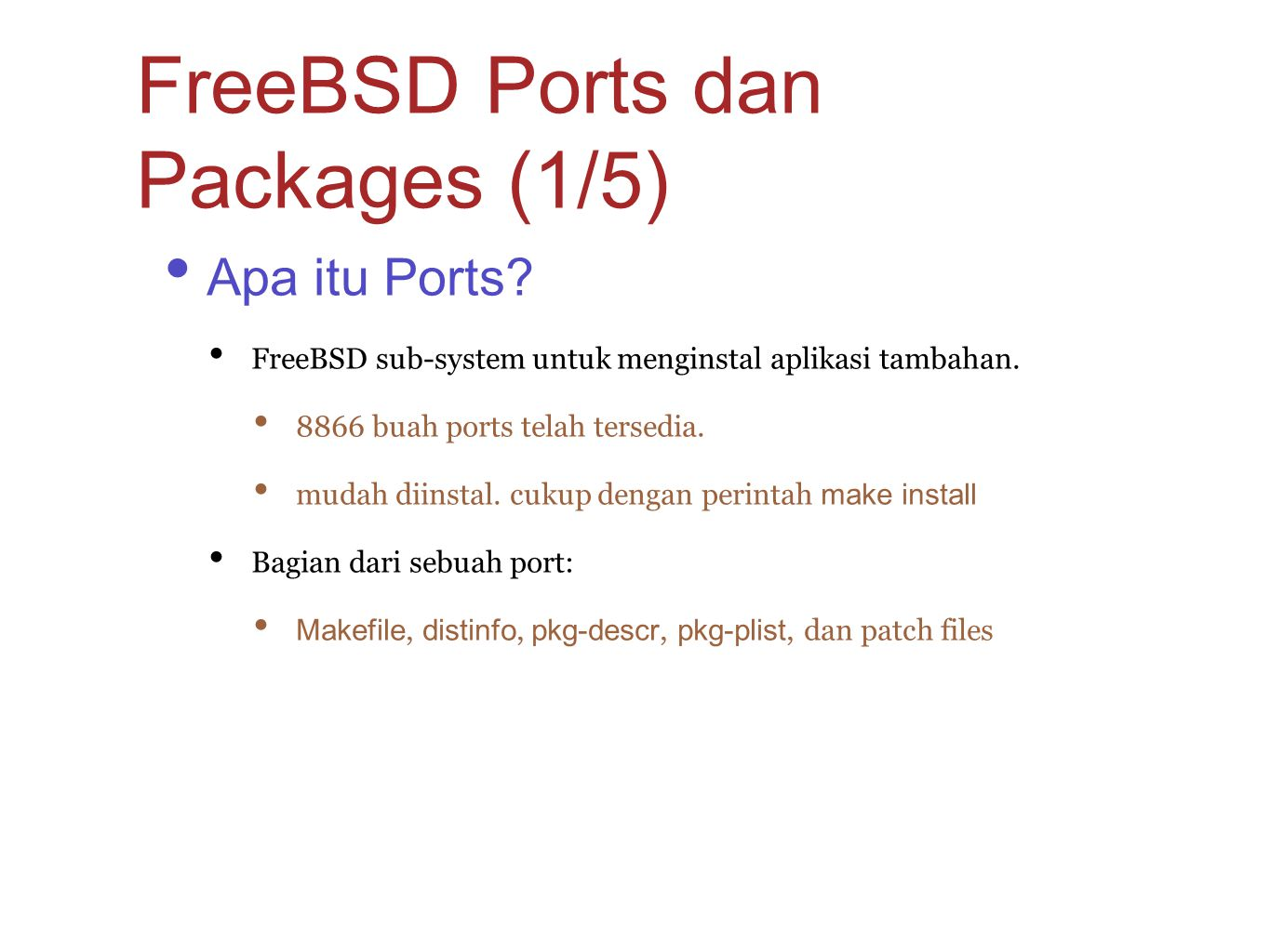 FreeBSD Ports dan Packages (1/5)