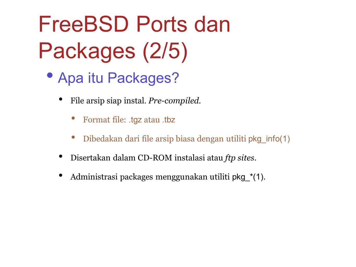 FreeBSD Ports dan Packages (2/5)