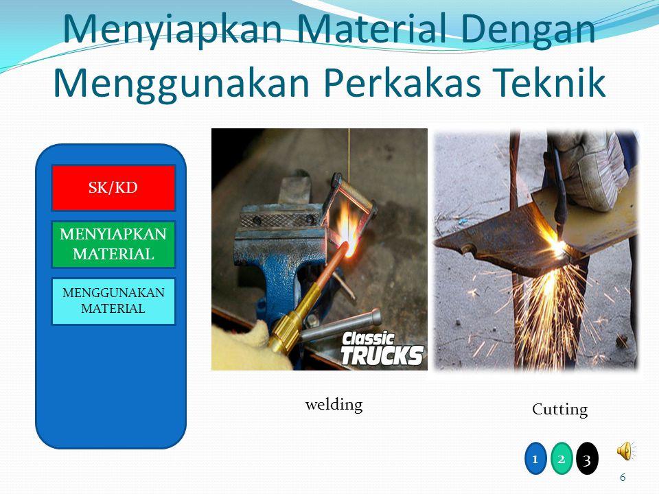 Menyiapkan Material Dengan Menggunakan Perkakas Teknik