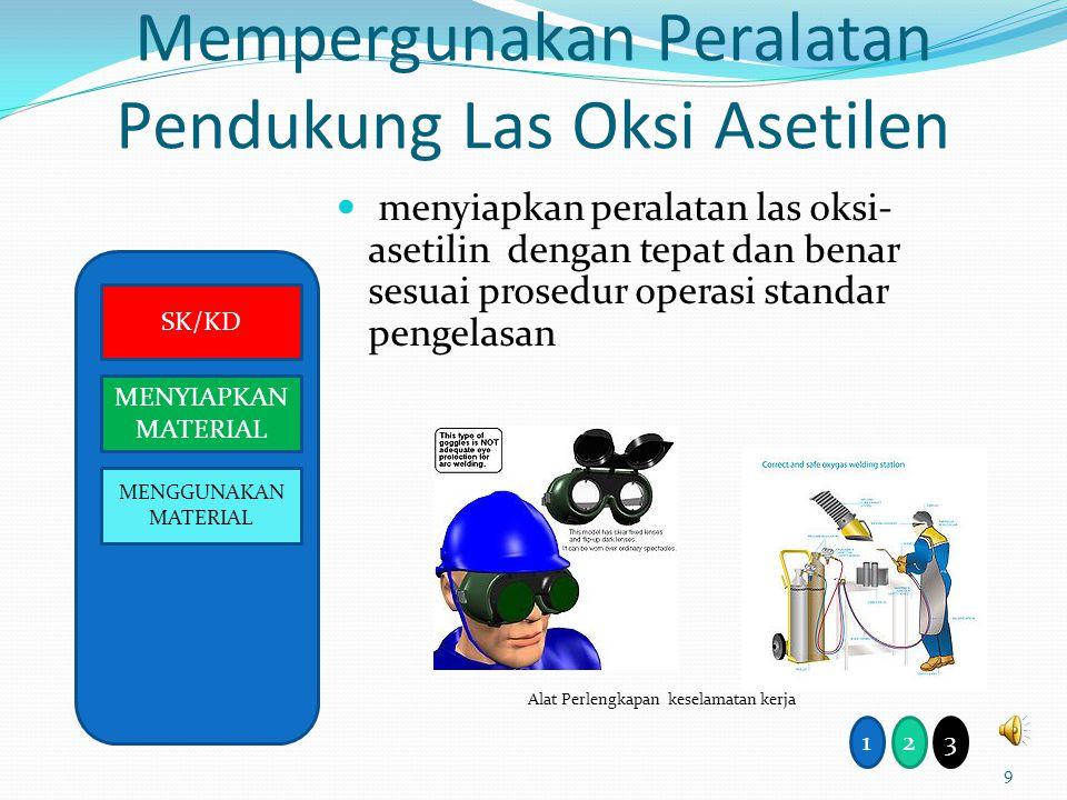 Mempergunakan Peralatan Pendukung Las Oksi Asetilen