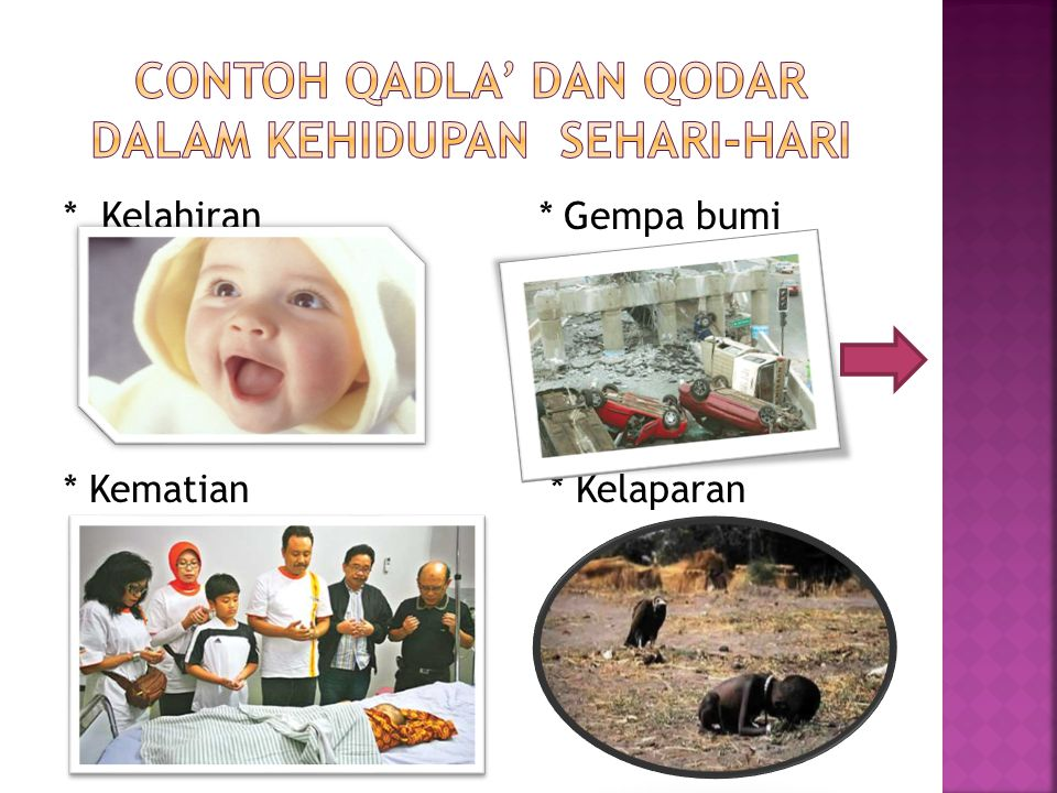 contoh Qadla' dan Qodar dalam kehidupan sehari-hari
