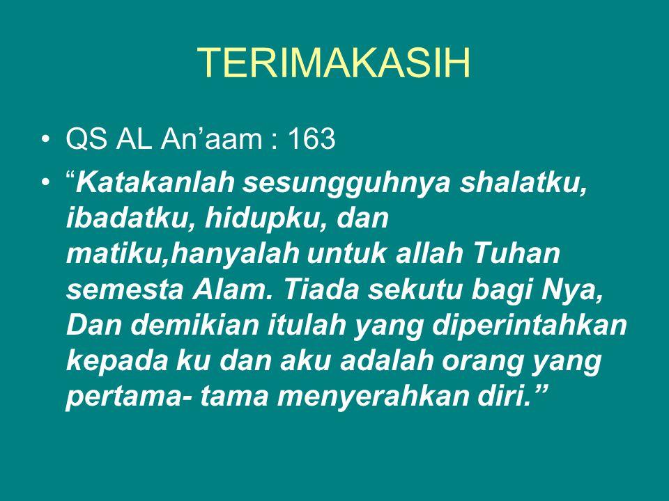 TERIMAKASIH QS AL An'aam : 163