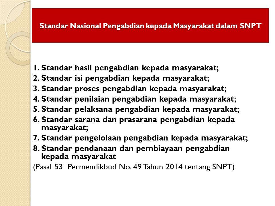 Standar Nasional Pengabdian kepada Masyarakat dalam SNPT