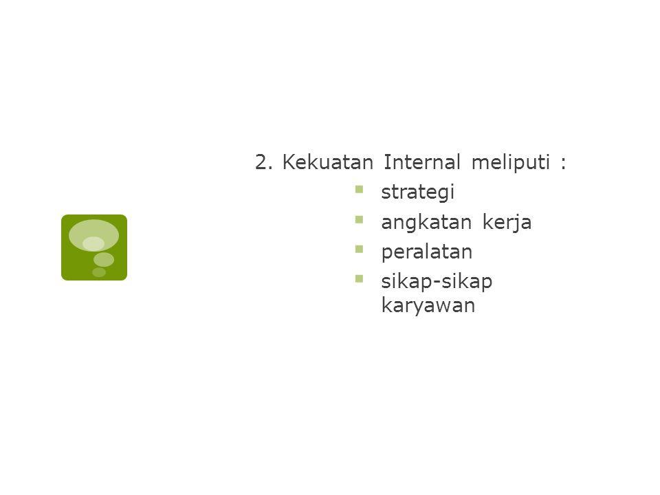 2. Kekuatan Internal meliputi :