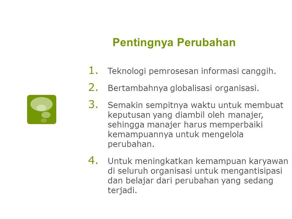 Pentingnya Perubahan Teknologi pemrosesan informasi canggih.