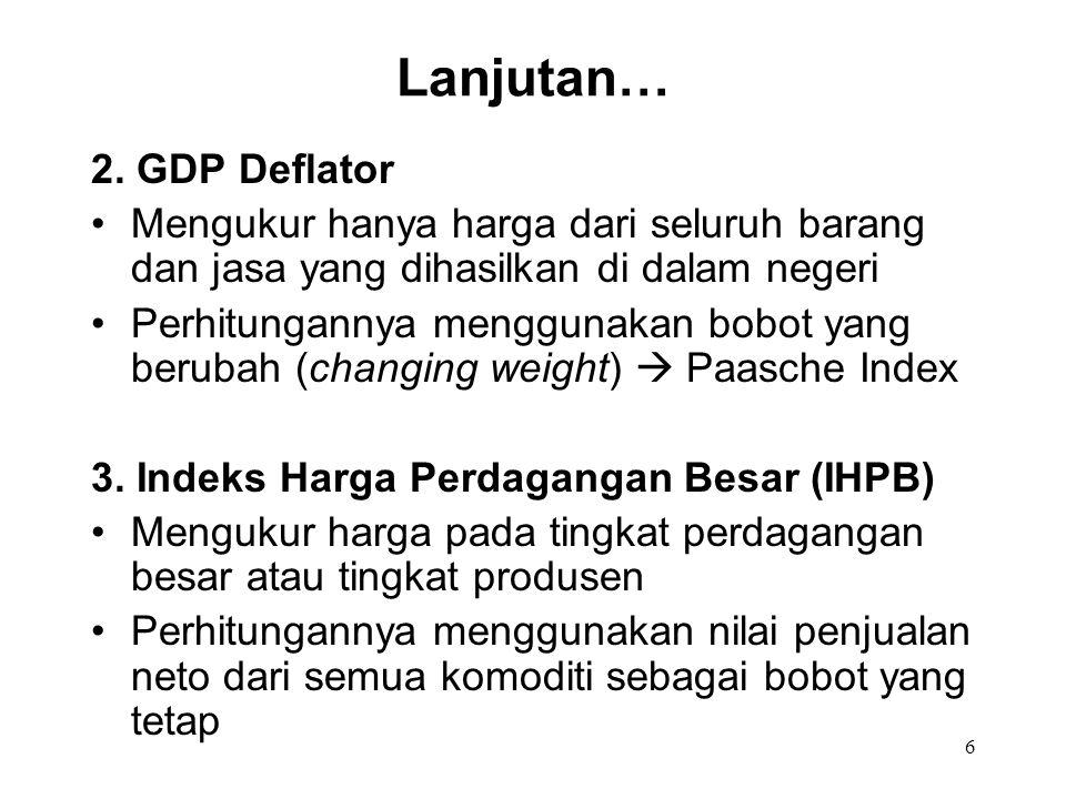 Lanjutan… 2. GDP Deflator