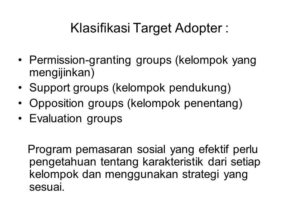 Klasifikasi Target Adopter :
