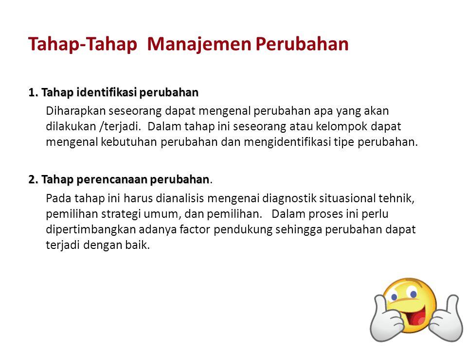 Tahap-Tahap Manajemen Perubahan