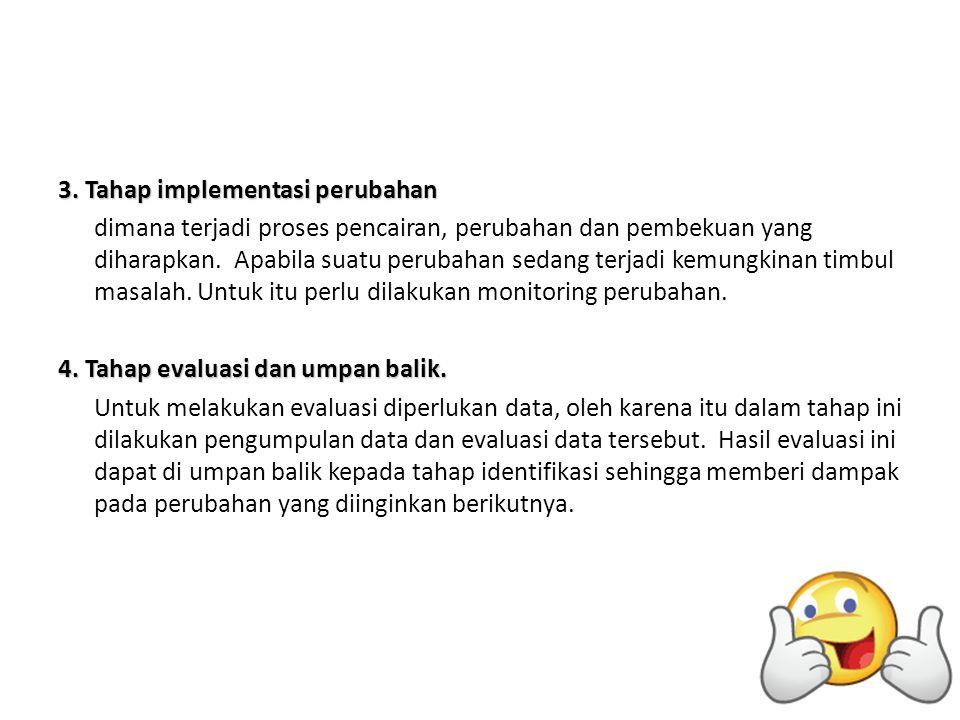 3. Tahap implementasi perubahan