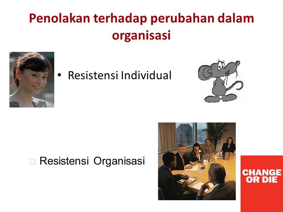 Penolakan terhadap perubahan dalam organisasi