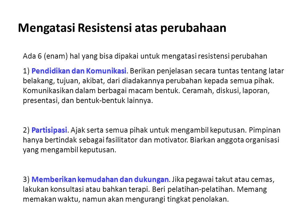 Mengatasi Resistensi atas perubahaan
