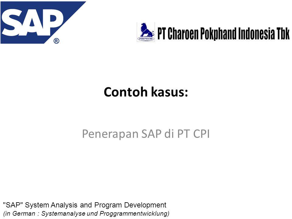 Contoh kasus: Penerapan SAP di PT CPI