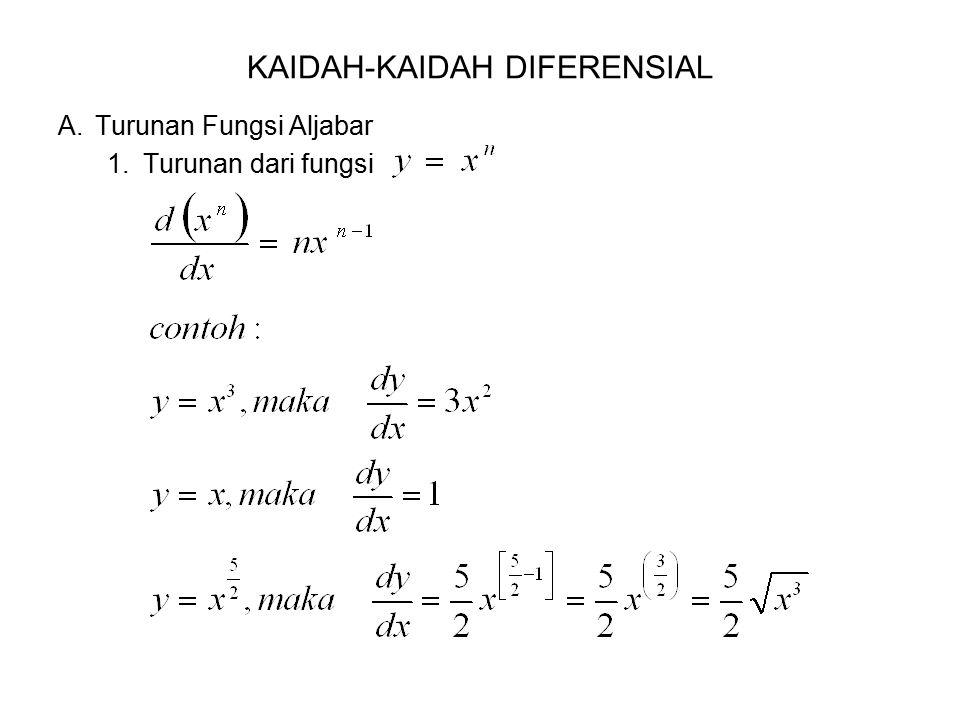 KAIDAH-KAIDAH DIFERENSIAL