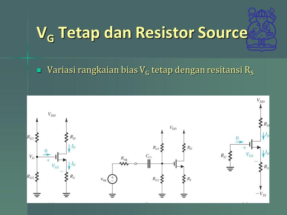VG Tetap dan Resistor Source