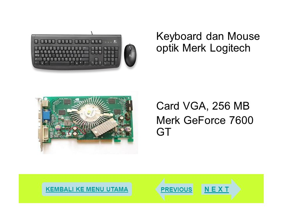 Keyboard dan Mouse optik Merk Logitech