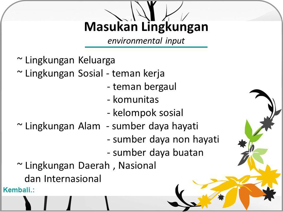 Masukan Lingkungan environmental input