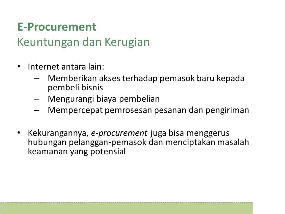 E-Procurement Keuntungan dan Kerugian